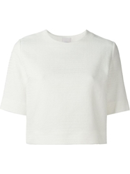 Lala Berlin 'Beata' Textured Top White