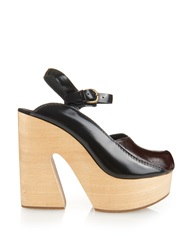 Rachel Comey Alton Bi Colour Leather Platform Sandals