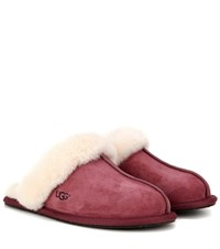 Ugg Scuffette Ii Shearling Lined Suede Slippers Pink
