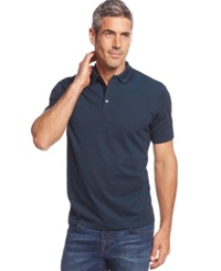 Alfani Andy Two Tone Polo Blue Gem