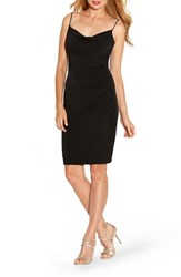 Women's Laundry By Shelli Segal Ruched Jersey Body Con Dress Black