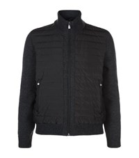 Corneliani Quilted Body Jacket Male Dark Grey