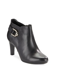 Bandolino Layita Leather Ankle Booties Black