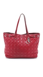 Wgaca Dior Canvas Bag Previously Owned Red