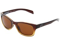 Native Highline Stout Fade Iron Temple Grey Brown Lens Athletic Performance Sport Sunglasses