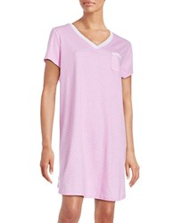 Karen Neuburger Printed Cotton Blend Sleepshirt Pink