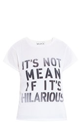 Wildfox Couture Its Not Mean T Shirt Ivory