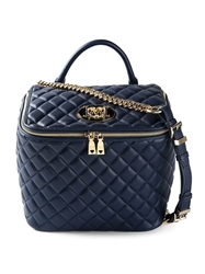 Love Moschino Quilted Box Bag Blue