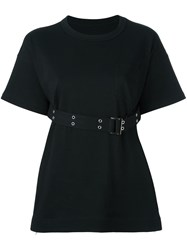 Sacai Belted T Shirt Black