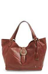Frye 'Belle' Leather Satchel Brown Whiskey
