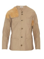J.W.Anderson Suede Patch Hunting Jacket Camel