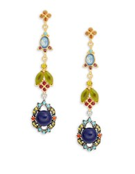 Gerard Yosca Garden Stone Drop Earrings Multi