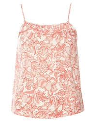 Dorothy Perkins Dotty Floral Print Camisole Top Coral