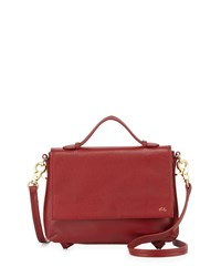 Foley Corinna Gigi Leather Flap Crossbody Bag Rouge