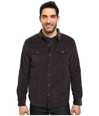 Prana Gomez Corduroy Jacket Charcoal Men's Coat Gray
