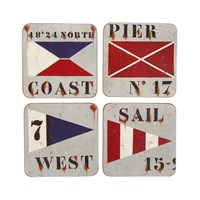 Chehoma Pier Coast Sail And West Coasters Set Of 4
