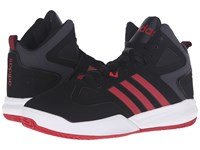 Adidas Cloudfoam Thunder Mid Black Red White Men's Basketball Shoes