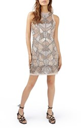 Topshop Women's Patchwork Embellished Minidress
