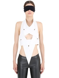 Gareth Pugh Star Shaped Leather And Cady Body Harness White