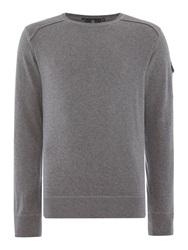 Duck And Cover Swanley 2 Crew Neck Knitwear Grey Marl
