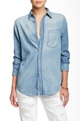 Mother The Frenchie On The Run Denim Shirt Blue