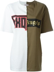 Palm Angels Patchwork T Shirt White