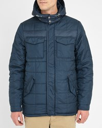 Knowledge Cotton Apparel Navy Removable Hood Down Jacket