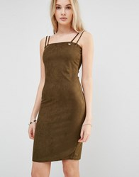 Love And Other Things Pencil Dress With Double Strap Green