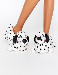 New Look Dalmatian Dog Slipper White Pattern