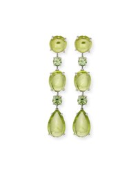 Robert Erich Peridot And Demantoid Garnet Drop Earrings