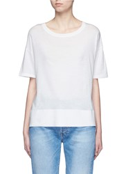 Vince Pima Cotton Banded Hem T Shirt White