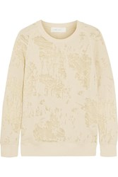 Iro Nona Burntout Cotton Blend Sweatshirt White