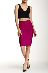 Wow Couture Bodycon Pencil Skirt Red