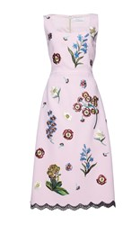 Andrew Gn Sleeveless A Line Dress Pink