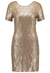 Deby Debo Sequance Cocktail Dress Party Dress Gold