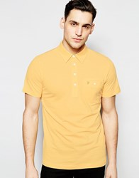 Farah Polo Shirt With Pocket Regular Fit Yellow