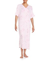 Miss Elaine Floral Long Nightgown Pink