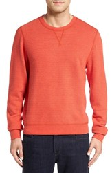 Cutter And Buck Men's 'Gleann' French Terry Crewneck Sweatshirt Tangerine Heather