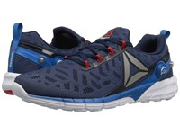 Reebok Zpump Fusion 2.5 Collegiate Navy Instinct Blue Pewter Riot Red White Men's Running Shoes