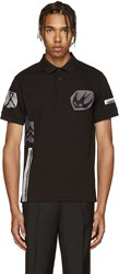 Mcq By Alexander Mcqueen Black Embroidered Polo