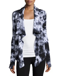 Marc Ny Performance Tie Dye Draped Cardigan Black