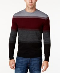 Club Room Men's Colorblocked Sweater Only At Macy's Deep Black