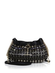 Sonia Rykiel Embellished Hobo Crossbody Bag Black