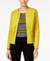 Alfani Faux Leather Jacket Only At Macy's Luxe Lime