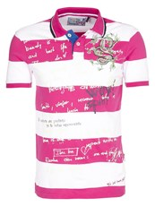 Desigual Spirit Polo Shirt Pink Red