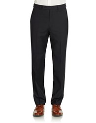 Calvin Klein Slim Fit Wool Pinstriped Dress Pants Midnight Blue