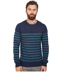 Original Penguin Long Sleeve True Indigo Crew Neck Lightweight Sweater Dark True Indigo Men's Sweater Gray