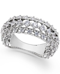 Diamond Band By Marchesa Certified In 18K White Gold 1 Ct. T.W.