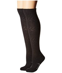 Smartwool Wheat Fields Knee Highs Charcoal Heather Women's Knee High Socks Shoes Gray