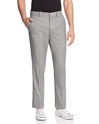 Theory Norwood Micro Houndstooth Slim Fit Trousers Dk Grey Black